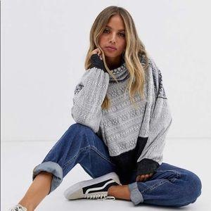 NWT Free People Cowl/Turtleneck Sweater